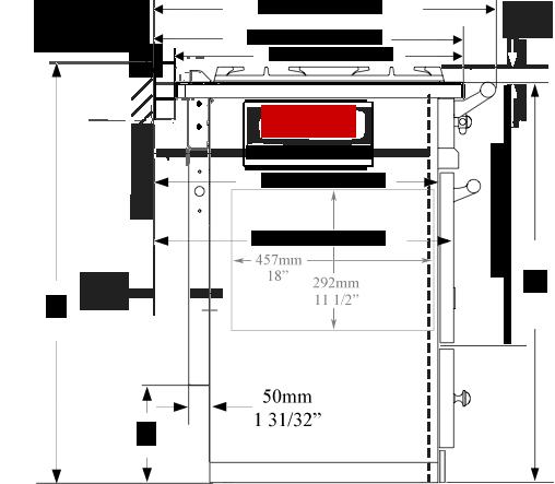 Fontenay side dimensions