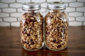 Homemade Granola in the Warming Cupboard