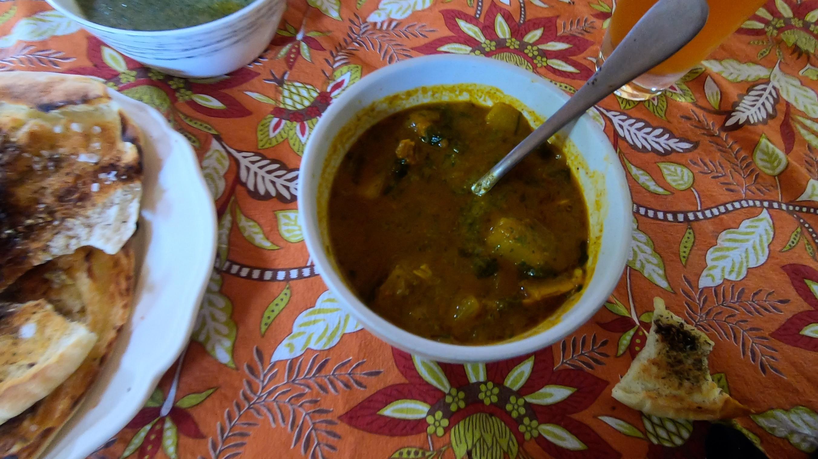 Yemenite soup in a bowl