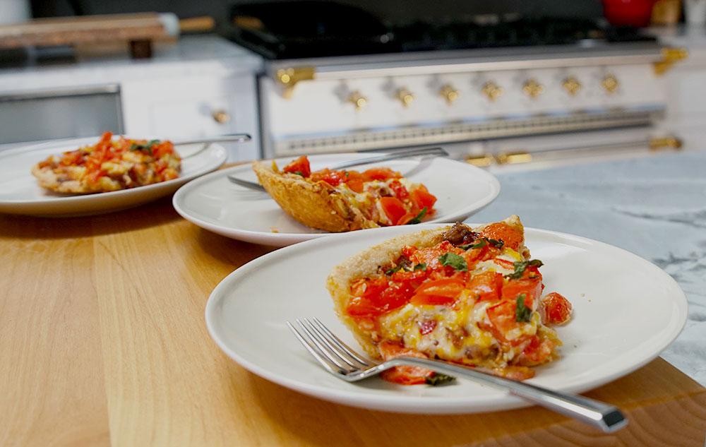 tomato pie slices
